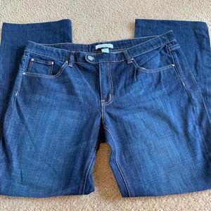 White House Black Market 16R Blue Jeans Straight